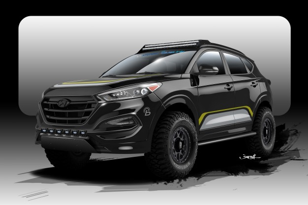 This Year Hyundai Will Be Bringing A Custom Tucson Crossover To Sema In Collaboration With Rockstar Performance Garage The
